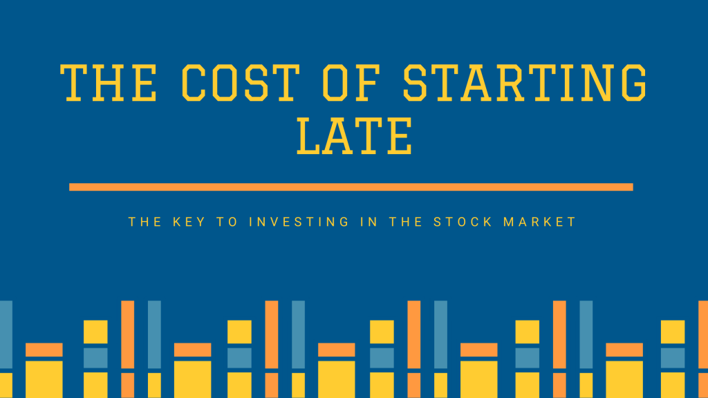 the cost of starting late investing in the stock market